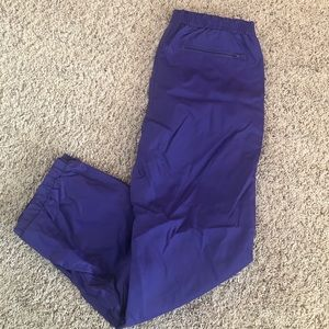 Obermeyer Purple Outdoor Nylon Pants Sz L